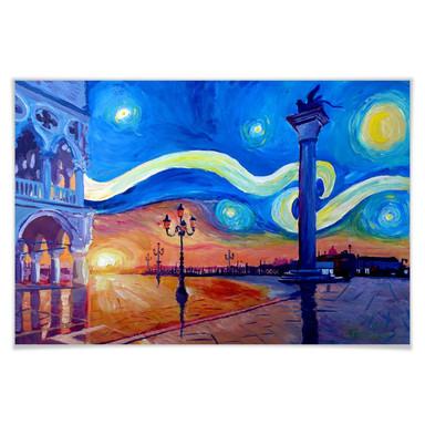 Poster Bleichner - Venedig bei Nacht