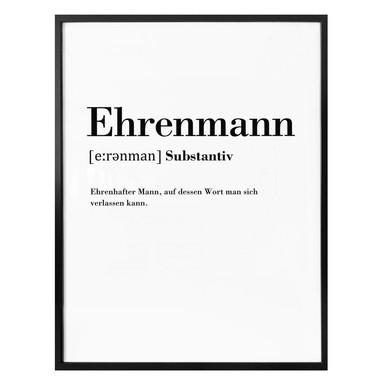 Poster Grammatik - Ehrenmann