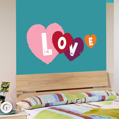 Wandsticker Bibi&Tina - Love Herzen