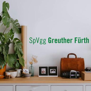 Wandsticker SpVgg Greuther Fürth Schriftzug