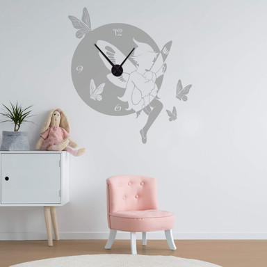 Wandtattoo + Uhr Elf Wanduhr