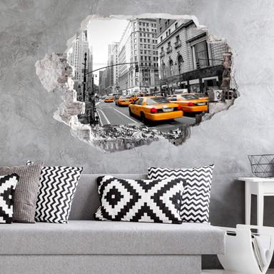 3D Wandtattoo Cabs in Manhattan