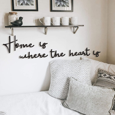 Acrylbuchstaben Home is where the heart is (6-teilig)