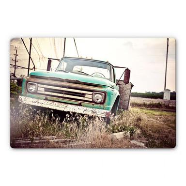 Glasbild American rusted Truck