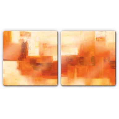 Glasbild Schüssler - Cosmic Connection (2-teilig)