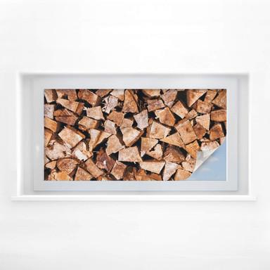 Sichtschutzfolie Holz - Panorama