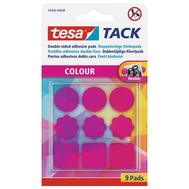 tesa® Tack Doppelseitige Klebepads pink 9 Stk. - Bild 1