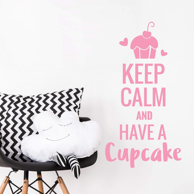 Wandtattoo - Keep calm and have a cupcake