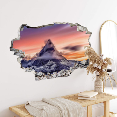 3D Wandtattoo Top of the mountain
