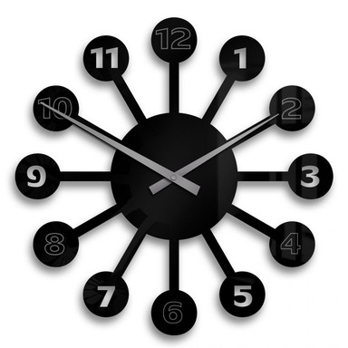Acrylglasbild Lollipop Uhr