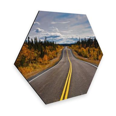Hexagon - Alu-Dibond - Road Trip