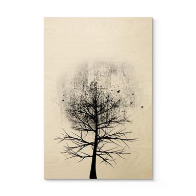 Holzposter Kubistika - Baumstudie 01