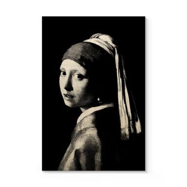 Holzposter Vermeer - Das Mädchen mit dem Perlenohrgehänge