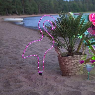 LED Deko Flamingo Tuby in Rosa Batteriebetrieben