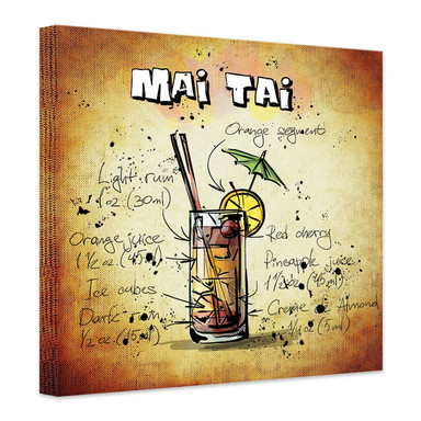 Leinwandbild Mai Tai - Rezept