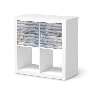 Möbel Klebefolie IKEA Expedit Regal 2 Türen (quer) - Greyhound