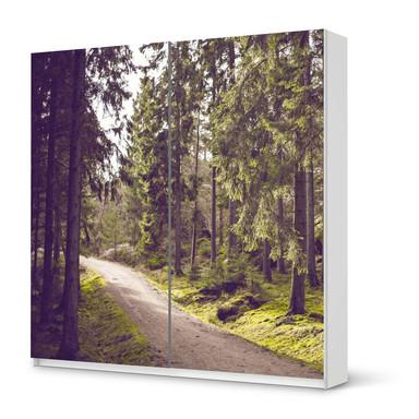 Möbel Klebefolie IKEA Pax Schrank 201cm Höhe - Schiebetür - Forest Walk- Bild 1