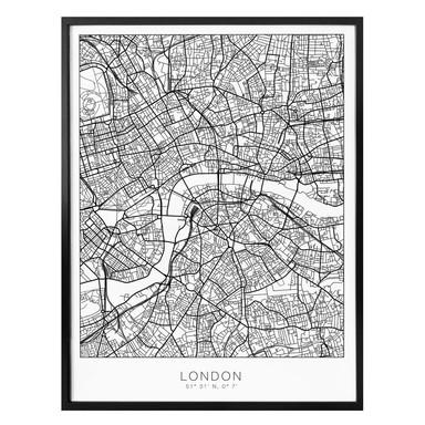 Poster Stadtplan London
