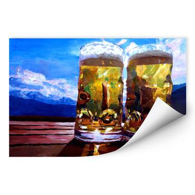 Wallprint Bleichner - Zwei Bier in den Bergen