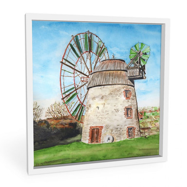 Wandbild Toetzke - Holländerwindmühle - quadratisch