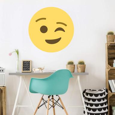 Wandtattoo Emoji Winking Face