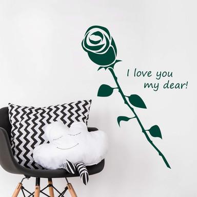 Wandtattoo I love you my dear!
