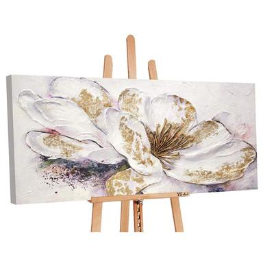 Acryl Gemälde handgemalt Goldene Pfingstrose 140x70cm - Bild 1