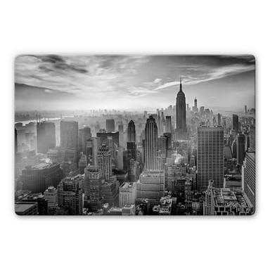 Glasbild Schilbe - Hazy Gotham