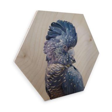 Hexagon - Holz Birke-Furnier - Sisi & Seb - Blauer Kakadu