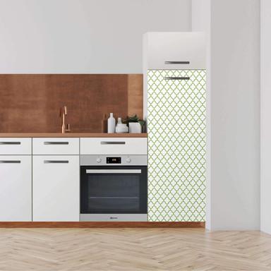 Klebefolie - Hochschrank (60x160cm) - Retro Pattern - Grün- Bild 1