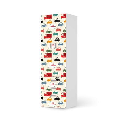 Klebefolie IKEA Stuva / Fritids - 3 Schubladen und 2 grosse Türen - Cars- Bild 1