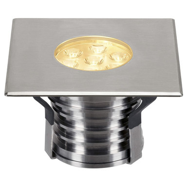 LED Bodeneinbaustrahler Dasar Premium, 148 mmx148 mm, IP67. eckig, Edelstahl 316. 30°