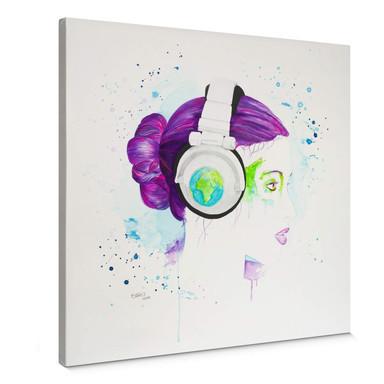 Leinwandbild Buttafly - Listen to the World