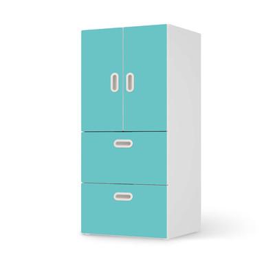 Möbelfolie IKEA Stuva / Fritids - 2 Schubladen und 2 kleine Türen - Türkisgrün Light