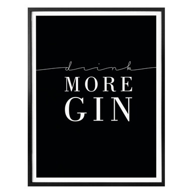 Poster Drink more Gin