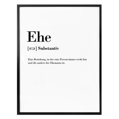 Poster Grammatik - Ehe