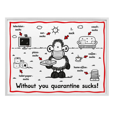 Poster Sheepworld - Quarantine sucks