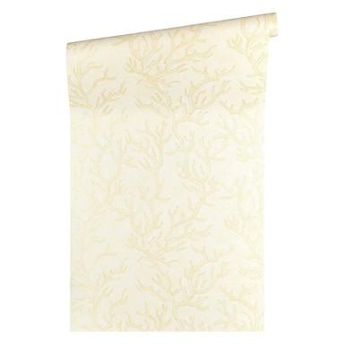 Versace wallpaper Tapete Les Etoiles de la Mer beige, creme, metallic