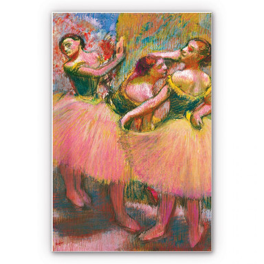 Wandbild Degas - Drei Tänzerinnen mit grünen Korsagen
