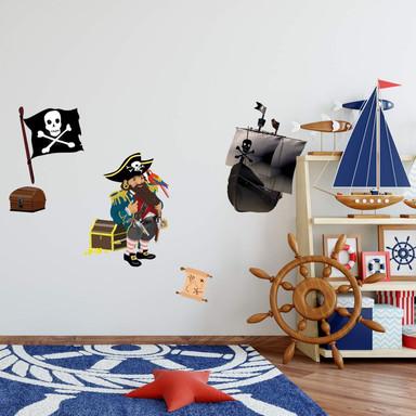 Wandsticker Piratenbundle