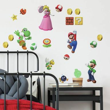 Wandsticker-Set Super Mario Brothers - 20-teilig