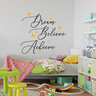 Wandtattoo Dream Believe Achieve (2-farbig)