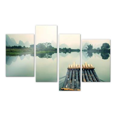 Acrylglasbild Flossfahrt in China (4-teilig)