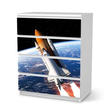 Folie IKEA Malm Kommode 4 Schubladen - Space Traveller