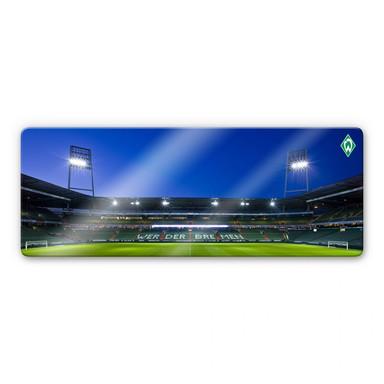 Glasbild Weserstadion Tribüne Panorama