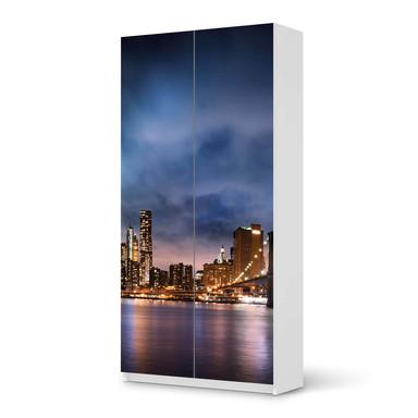 Klebefolie IKEA Pax Schrank 201cm Höhe - 2 Türen - Brooklyn Bridge