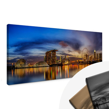Leinwandbild Xie - Lights in Singapore - Panorama