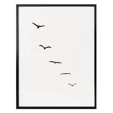 Poster Kubistika - Hoch am Himmel