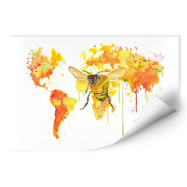 Wallprint Buttafly - Bees World