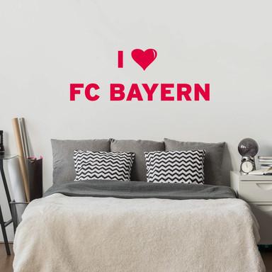 Wandtattoo I LOVE FC BAYERN